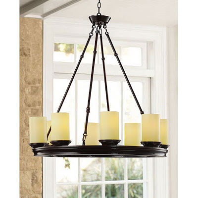 Chandelier wars part i copycatchic overstocks mahogany wood ivory shade 8 light chandelier 24999 mozeypictures Images