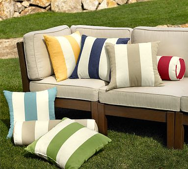 Pottery Barn S Classic Stripe Outdoor Cushions