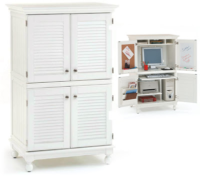 Bon Overstocku0027s Computer Armoire With Distressed White Finish U003d $684.99