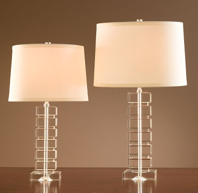 Exceptional Restoration Hardware Lamps Sale Drum Lamp Shade Table Stacked Crystal Block  .