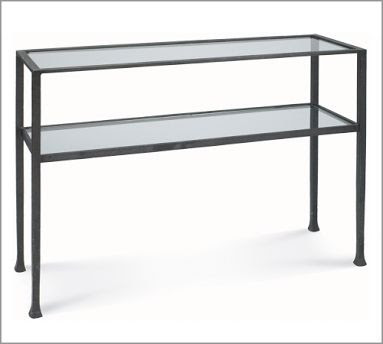 Pottery Barnu0027s Tanner Cube U003d $249. Targetu0027s Distressed Metal Sofa Table ...