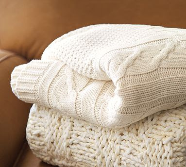 Pottery Barn Cable Knit Throw Copycatchic