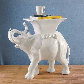 Gumps Elephant Side Table