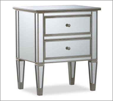 Exceptionnel Pottery Barn Park Mirrored Bedside Table