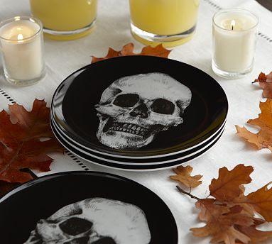 Pottery Barnu0027s Glass Skull Appetizer Plate u003d $7 & Skull Plates - copycatchic
