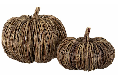 Pottery Barn Rattan Pumpkins Copycatchic