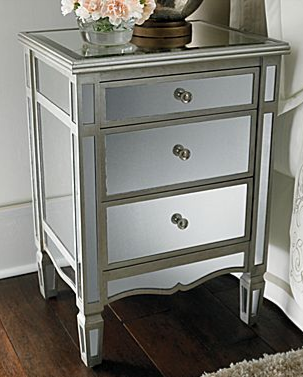 pottery barn park mirrored bedside table - copycatchic Mirrored Nightstand