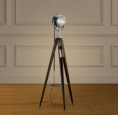 restoration hardware spotlight tripod floor lamp - copycatchic