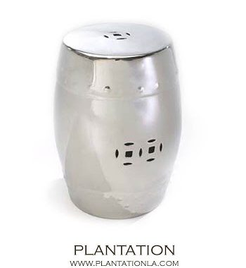 Plantation Platinum Drum Garden Stool