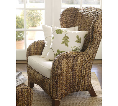 Pottery Barn Seagrass Wingback Chair Copycatchic