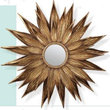Tonic Home Sunflower Antiqued Gold Mirror