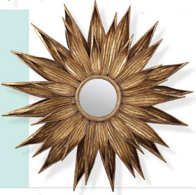 Tonic Home Sunflower Antiqued Gold Mirror Copycatchic