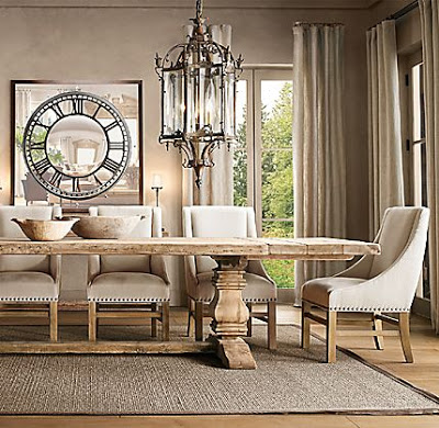 Restoration Hardware Salvaged Trestle Dining Table - copycatchic