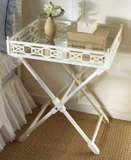 Horchow Mirrored Top Tray Table Copy Cat Chic