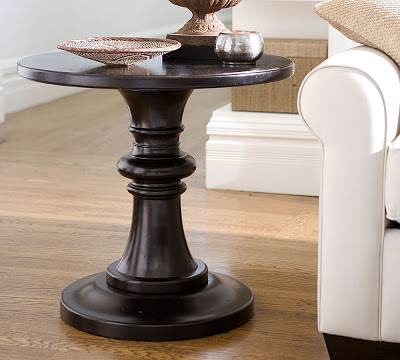Pottery Barn Rustic Pedestal Accent Table Copycatchic