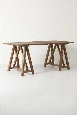 Anthropologie Sawhorse Table Copycatchic