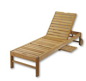 Wood Outdoor Chaise Lounger