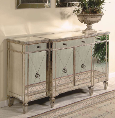 Horchow Mirrored Buffet Console Copy Cat Chic