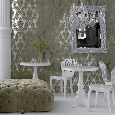 Brocade Home Velvet Ottoman