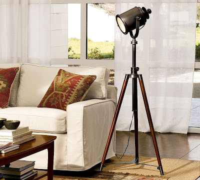 Pottery Barn Photographer\'s Tripod Floor Lamp - copycatchic