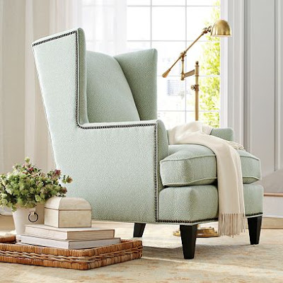 Williams Sonoma Home Anderson Wing Chair Copy Cat Chic