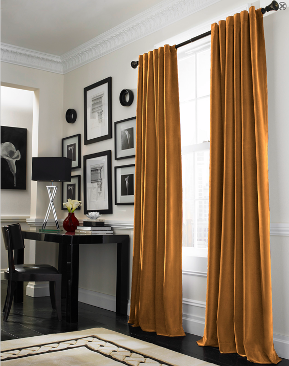 Curtainworks Messina Opulent Velvet Lined Drapery 52 X 84 Gold 4999