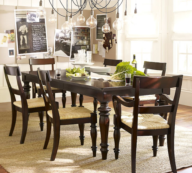 Pottery Barn Montego Turned Leg Dining Table Copycatchic