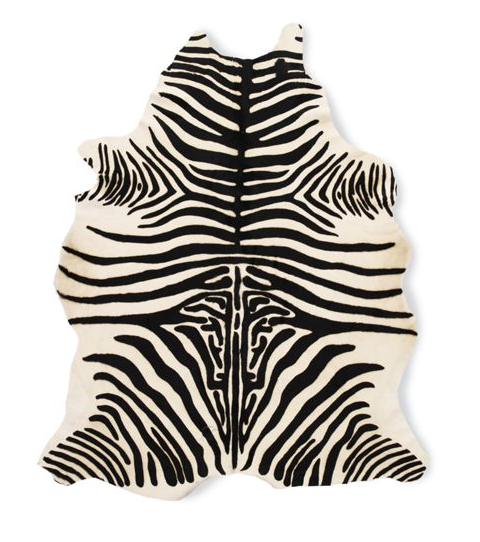Design Within Reach Zebra Cowhide Rug