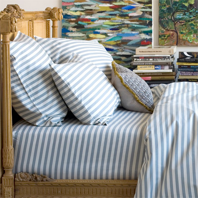 Dwell Studio Home Draper Stripe Ash Sheets Copycatchic