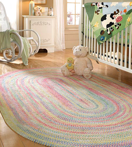 Layla Grace Cutting Garden Grass Braided Chenille Rug