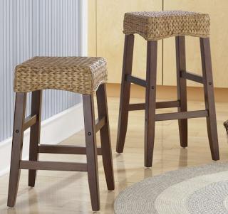 Prime Pottery Barn Seagrass Backless Barstool Copycatchic Short Links Chair Design For Home Short Linksinfo