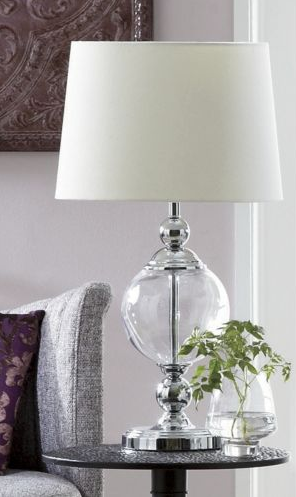 Restoration Hardware Crystal Ball Urn Table Lamp Copy