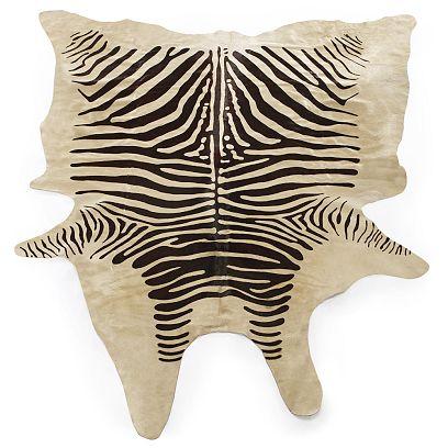 Design Within Reach Zebra Cowhide Rug Copycatchic