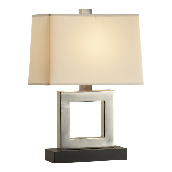 Elegant Crate U0026 Barrel Duncan Antiqued Silver Table Lamp