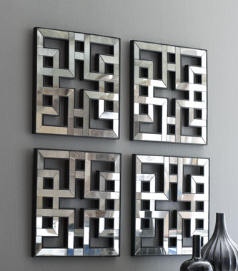 Nieman Marcus Four Fretwork Mirrors