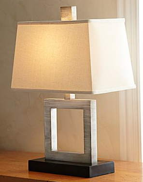 Crate barrel duncan antiqued silver table lamp copycatchic jcpenneys silver open square table lamp 2799 aloadofball Images