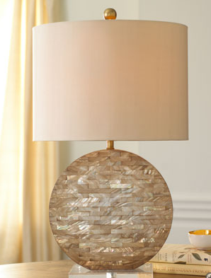 Horchow Mother Of Pearl Lamp