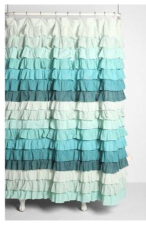Anthropologie Ruffle Shower Curtain Curtain Menzilperde Net
