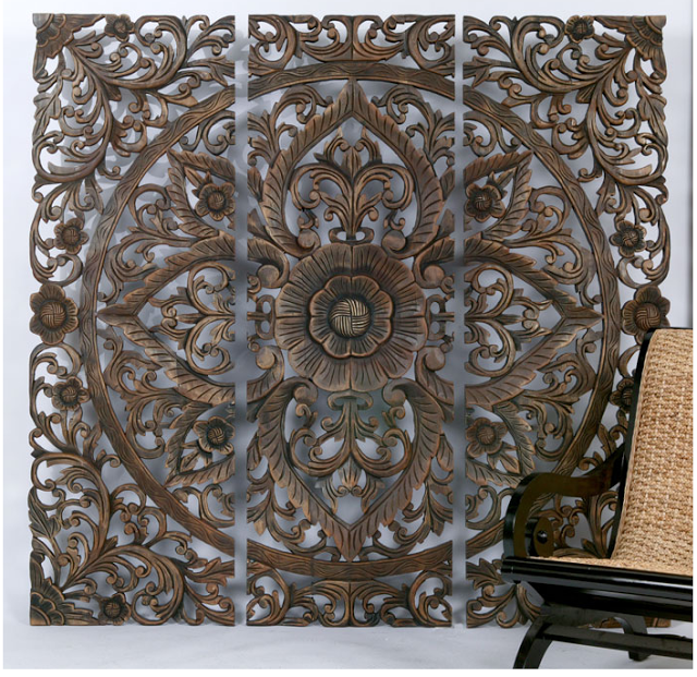 Z Gallerie Carved Sanctuary Panel Copy Cat Chic