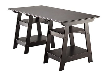 targets madison large trestle desk 31999 - Ballard Design Desks
