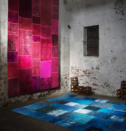 Over-dyed Patchwork Rugs