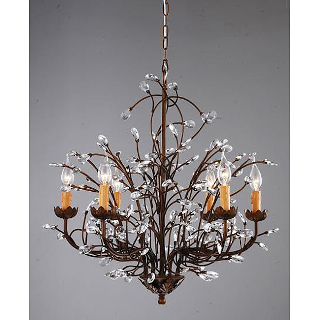 Pottery barn camilla chandelier copycatchic overstocks antique bronze 6 light crystal and iron chandelier 23699 mozeypictures Image collections