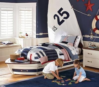 Pottery Barn Kids Speedboat Bed & Trundle   copycatchic