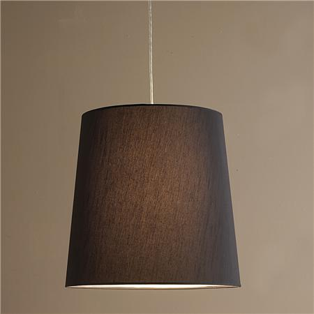 Restoration Hardware Black Linen Barrel Shade Pendant