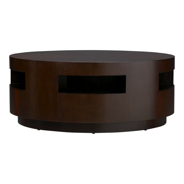 crate and barrel tambe espresso coffee table - copycatchic