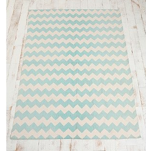 Mint Chevron Nursery U2013 Nursery Decor U2013 Nursery Floor Rug U2013 Kids Floor Rugs  U2013 Chevron