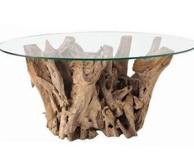 Clayton Gray Kingston Driftwood Glass Cocktail Table