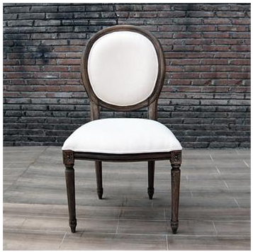 Well-known Restoration Hardware Vintage French Round Upholstered Side Chair  UB96