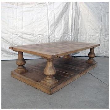 restoration hardware's balustrade salvaged wood coffee table
