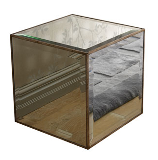 Horchow Mirrored Cube Copy Cat Chic